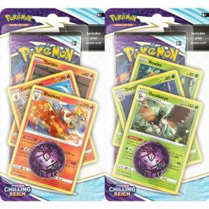 FÖRKÖP: Pokémon, Sword & Shield 6: Chilling Reign,PREMIUM Checklane Blister Pack x 2 (Decidueye + Blaziken) (Preliminär release 18:e juni 2021)