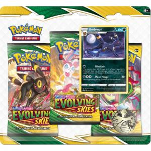 Pokémon, Sword & Shield 7: Evolving Skies, Three Pack Blister: Umbreon
