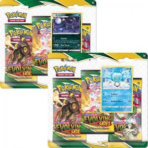 Pokémon, Sword & Shield 7: Evolving Skies, Three Pack Blister x 2 (Umbreon + Eiscue)