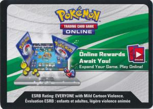 Elemental Power Tin VAPOREON-GX Pokemon TCG Online Code-Card (Oanvänd kod)