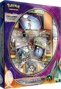 Pokémon, Ultra Beasts GX Premium Collection Box: Pheromosa GX & Celesteela GX (Lila)