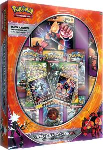 Pokémon, Ultra Beasts GX Premium Collection Box: Buzzwole GX & Xurkitree GX (Orange)
