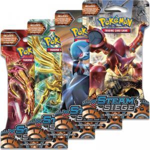 Pokemon, XY Steam Siege, 4 Sleeved Boosters (Alla 4 motiv)
