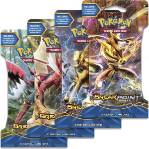 Pokémon, XY BREAKpoint, 4 Sleeved Boosters (All 4 arts)