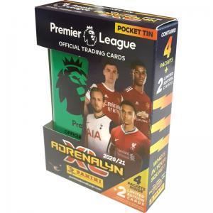 1st Pocket Tin Panini Adrenalyn XL Premier League 2020-21 [Färg på tinen kan variera]