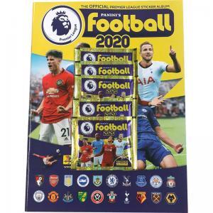 Album + 5 Paket, Panini Football Premier League 2020 (Klisterbilder)