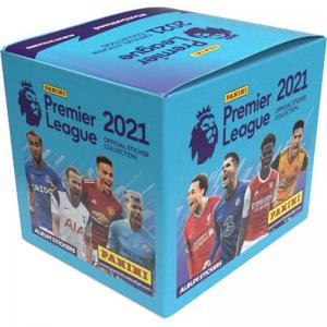 Box (50 Paket), Panini Football Premier League 2021 Stickers (Klisterbilder)