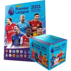 Album + Box (50 Paket), Panini Football Premier League 2021 Stickers (Klisterbilder)
