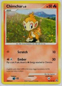 Pokémon, Pokemon Promo Cards, Chimchar - 76/130 - Holo Promo