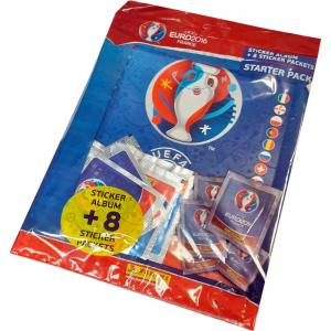 1 Starter Pack (Including 8 packs), Panini Stickers Euro 2016