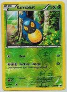 Pokémon, Dark Explorers, Karrablast - 9/108 - Reverse Holo Common