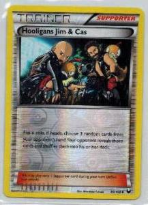 Pokémon, Dark Explorers, Hooligans Jim & Cas - 95/108 - Reverse Holo Uncommon