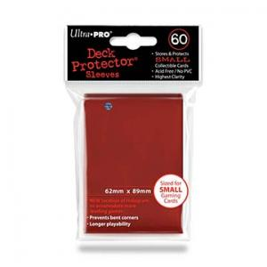 Small deck protector sleeves, Red, 60ct - Ultra Pro