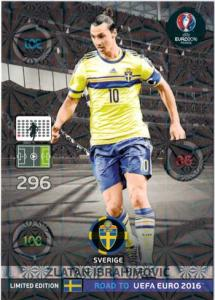 XXL Limited Edition, Adrenalyn Road to Euro 2016, Zlatan Ibrahimovic