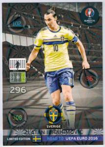 Limited Edition, Adrenalyn Road to Euro 2016, Zlatan Ibrahimovic