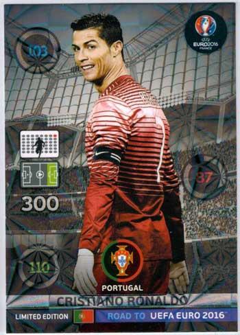 Limited Edition, Adrenalyn Road to Euro 2016, Cristiano Ronaldo