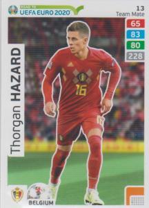 Adrenalyn XL Road to UEFA EURO 2020 #013 Thorgan Hazard (Belgium) - Team Mate
