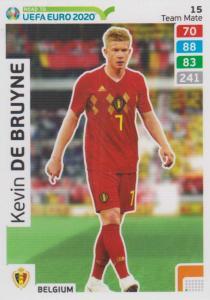 Adrenalyn XL Road to UEFA EURO 2020 #015 Kevin De Bruyne (Belgium) - Team Mate