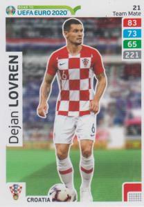 Adrenalyn XL Road to UEFA EURO 2020 #021 Dejan Lovren (Croatia) - Team Mate