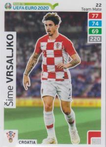 Adrenalyn XL Road to UEFA EURO 2020 #022 Šime Vrsaljko (Croatia) - Team Mate