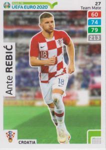 Adrenalyn XL Road to UEFA EURO 2020 #027 Ante Rebić (Croatia) - Team Mate