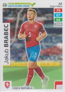 Adrenalyn XL Road to UEFA EURO 2020 #032 Jakub Brabec (Czech Republic) - Team Mate