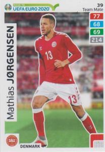 Adrenalyn XL Road to UEFA EURO 2020 #039 Mathias Jørgensen (Denmark) - Team Mate