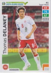 Adrenalyn XL Road to UEFA EURO 2020 #041 Thomas Delaney (Denmark) - Team Mate