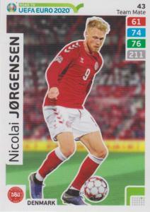 Adrenalyn XL Road to UEFA EURO 2020 #043 Nicolai Jørgensen (Denmark) - Team Mate