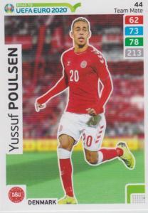 Adrenalyn XL Road to UEFA EURO 2020 #044 Yussuf Poulsen (Denmark) - Team Mate