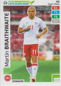 Adrenalyn XL Road to UEFA EURO 2020 #045 Martin Braithwaite (Denmark) - Team Mate