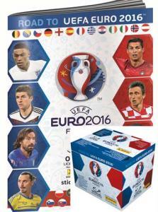 Panini Stickers Road to Euro 2016, Box (50 packs) + Album