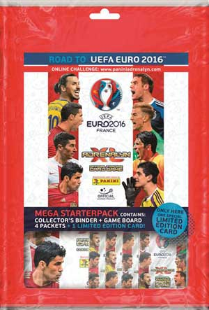 1st Mega Startpaket, Panini Adrenalyn XL Road to Euro 2016