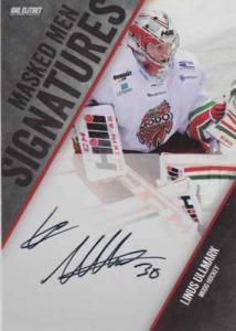 2014-15 SHL s.2 Masked Men Signatures #3 Linus Ullmark MODO Hockey