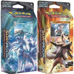 Pokémon, SM Burning Shadows, Theme Deck x 2, Lycanroc + Alolan Ninetales