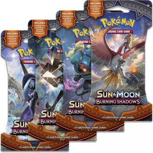 Pokémon, SM Burning Shadows, 4 Sleeved Boosters (All 4 arts)