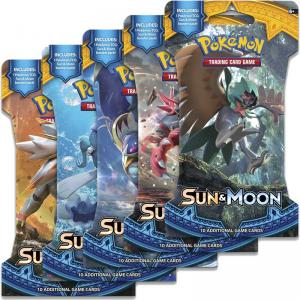Pokémon, Sun & Moon, 5 Sleeved Boosters (All 5 arts)
