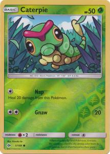Sun & Moon (Base Set), Caterpie - 1/149 - Common Reverse Holo