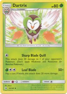Sun & Moon (Base Set), Dartrix - 10/149 - Uncommon