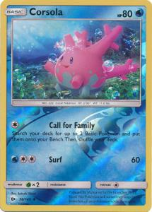 Sun & Moon (Base Set), Corsola - 36/149 - Uncommon Reverse Holo