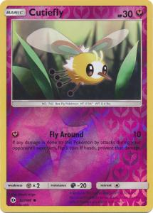 Sun & Moon (Base Set), Cutiefly - 92/149 - Common Reverse Holo