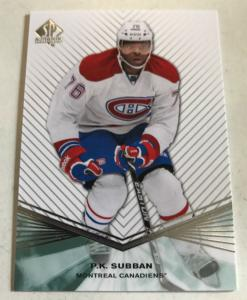 2011-12 SP Authentic Hockey Base Set