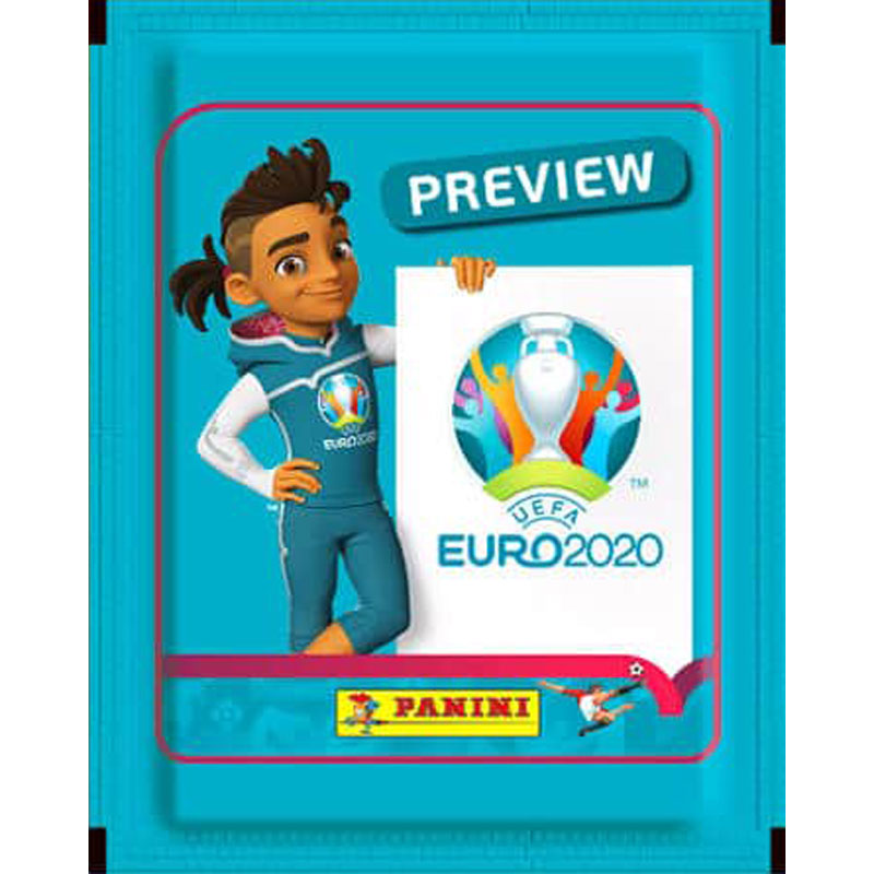 SLÄPPTA 2020 (De gamla med andra ord) Paket (5 stickers), Panini Stickers Euro 2020 Preview