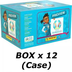 Case (12 boxes), Panini Stickers Euro 2020 Preview