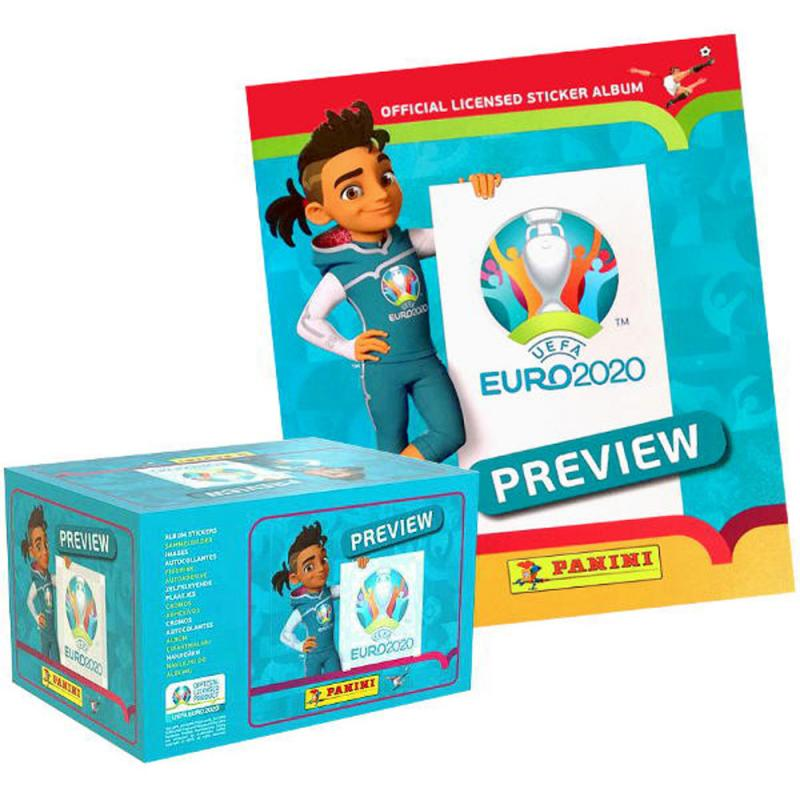SLÄPPTA 2020 (De gamla med andra ord) Box (120 Paket) + Gratis Album, Panini Stickers Euro 2020 Preview