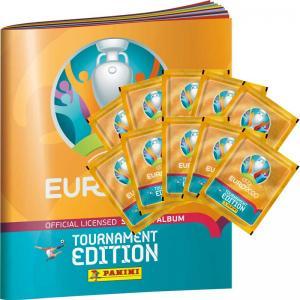 10 Paket + Gratis Album, Panini Stickers Euro 2020 TOURNAMENT EDITION (2021)