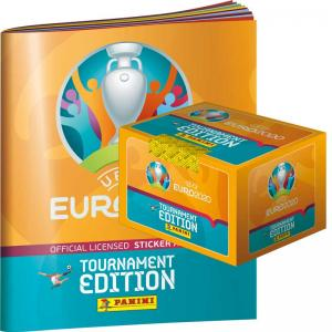 Box (100 Paket) + Gratis Album, Panini Stickers Euro 2020 TOURNAMENT EDITION (2021)