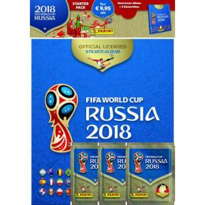 1 HARD COVER Starter Pack (Album + sticker packs), Panini Stickers World Cup 2018 - GERMAN RELEASE