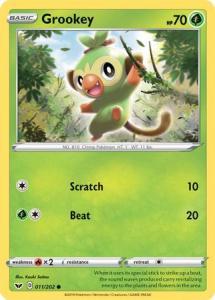 Pokemon Sw&Sh - Grookey - 011/202 - Holo Common
