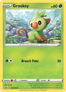Pokemon Sw&Sh - Grookey - SWSH001 – Holo Promo